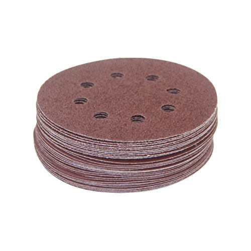 5 Inch 8 Hole Hook and Loop Sanding Discs Sand Paper by YiwerDer, 30PCS Assorted 40 80 120 180 240 320 Grits For Power Random Orbit Sanders