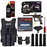 Oriion Paintball Marker Professional Kit | Paintball Gun, Anti Fog Paintball Mask, Hopper, 20oz C02 Paintball Tank, Tactical Vest, Tactical Large Gloves, 4 Paintball Pods & Swab | Ultimate Combo Set