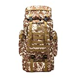 OSSZEFUT Military Tactical Backpack 80L Large Camping Hiking Backpack Rucksack