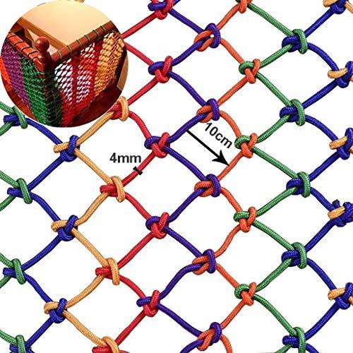Outdoor Kinderschutznetz Balkon Sicherheitsnetz Treppen Bruchsicheres Netz Kindergarten Farbe Dekoratives Netz für Kinder Outdoor Spielgarnituren, Klettergerüste,1 * 4m
