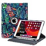 Fintie Hülle für iPad 10.2 Zoll 2019, 360 Grad Rotierend Stand Schutzhülle Cover mit eingebautem Pencil Halter, Auto Schlaf/Wach Funktion für 10.2
