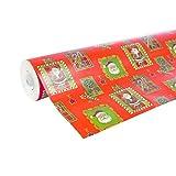 Clairefontaine 211302C - Une bobine papier cadeau Alliance 50mx0m70 60g, Père Noël mosaïque