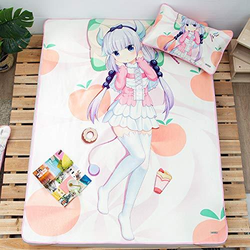 Hllhpc Cool een zomer mooi meisje afdrukken cartoon ijs zijde mat 1.5m enkele bed vouwen driedelig