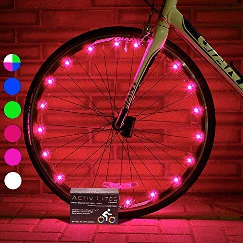 Active Life Bike Fairy Lights (1 Tire, Pink) Top...