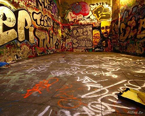 Puzzels 1000 stukjes voor volwassenen Kinderen Hiphop Stedelijke muur Graffiti Houten kindergeschenken Puzzel Decompressie Decoupeerzagen