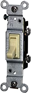 Leviton 2651-2I 15 Amp, 120 Volt, Toggle Co/Alr Single-Pole AC Quiet Switch, Residential Grade, Grounding, Ivory