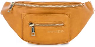 Fawn Design Fawny Pack For Women - Premium Fanny Pack Made Of Faux Leather With Adjustable Nylon Belt - For Keeping Phone, Wallet, Keys, Lipstick - Great For Travel, Hiking, and Running (Honey)