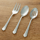 York Mirror 3-Piece Serving Set + Reviews | Crate and Barrel