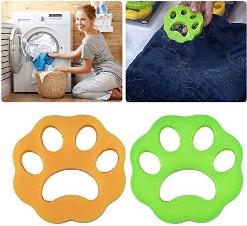 Zhybca - 2020año Eliminador de pelo de mascotas para lavandería, lavadora, recogedor de pelo de mascotas, removedor de pelo de mascotas para ropa/ropa de cama, bola de limpieza reutilizable 2Pcs