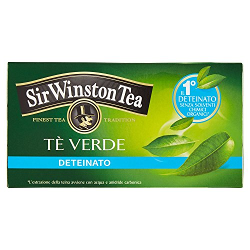 Sir Winston Tea Tè Verde Deteinato, 20 Filtri, 35g
