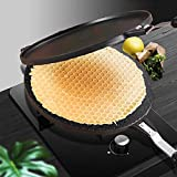 Waffle Cone Maker Pan Aluminum Alloy Gas Non-Stick Cake Griddle Egg Roll Mold Kitchen Baking Tool