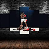 YUXIXI Boxeo Kodecoración De La Pared Decoraciones Impresiones En Lienzo Imágenes Obra para El Dormitorio Sala De Estar Baño 5 Piezas-150 x 80 cm