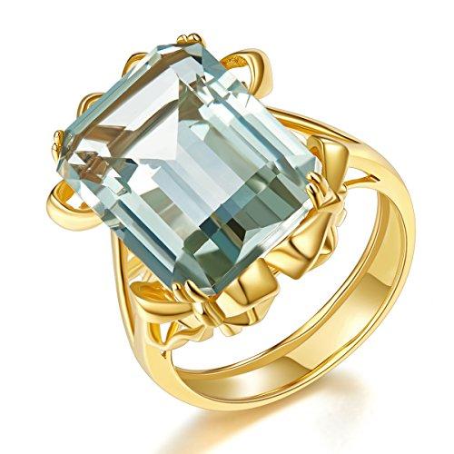 Hutang Jewelry  -    Sterling-Silber 925 Oktagonschliff   grün Améthyste