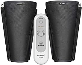 FIT KING Leg Massager for Circulation and Muscle Relaxation, Air Compression Calf Massager for Edema and RLS with 2 Modes 3 Intensities FT-008A