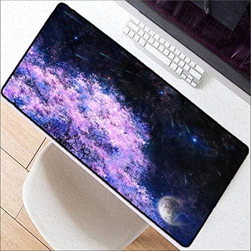 HONGHUAHUI kersenbomen ruimte grote muismat notebook computer muismat Gaming muis matten praktische bureau rusten Surface, 400X900X3MM
