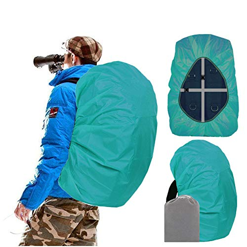 Joy Walker Waterproof Backpack Rain Cover for (15-90L), Upgraded Anti-Slip Cross Buckle Straps, Triple Strengthened Layers for Hiking Camping Traveling Cycling (Lake Blue, XL (for 50-70L Backpack))