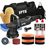 Buffer Polisher, SPTA 5-Inch 125mm Dual Action Random Orbital Car Polisher,Car Detailing Kit, 4Pcs 5inch & 4Pcs 6Inch Polishing Pad,Packing Bag for Car Polishing and Waxing-DAPSET-US