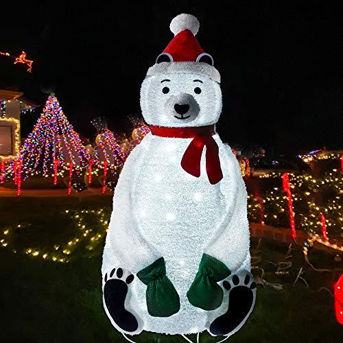 Lulu Home Christmas Collapsible Polar Bear Decoration, 6 Ft 200 LED Christmas Lighted Polar Bear Ornaments with Clear Lights, Plug-in Christmas Light Up Polar Bear Indoor Outdoor Yard Holiday Decor -  Lulu Home Inc
