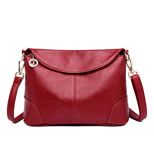CMZ Backpack Women's Bags Fashion Ladies Diagonal Shoulder Bag Middle-Aged Soft Leather Small Square Bag Women