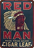 Red Man Chewing Tobacco Vintage Look Reproduction Metal Tin Sign 12X18 Inches 2