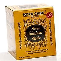 Koyo Cabe Chilli Brand Porous Capsicum Plaster, 1 Box contain 20 Packs by Chilli Brand