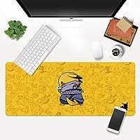 クリエイティブピカチュウパターンダイニングテーブルマットナルトクリエイティブ要素特大マウスパッド厚いシームノンスリップデスクマット洗える小さなマウスパッド (A9,900*400*4mm)