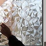 Lámina Autoadhesiva Opaca Para Ventana, KNMY 3D Ventana decorativos Autoadhesiva Pegatina De Ventana, Cristal Película Decorativa Papel Adhesivo Para Baño, Cocina, Oficina, 45 X 300 CM