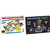 Snap Circuits Pro SC-500 Electronics Exploration Kit | Over 500 Projects | Full Color Project Manual | 75 Parts | STEM Educational Toy for Kids 8 + & Light Electronics Exploration Kit