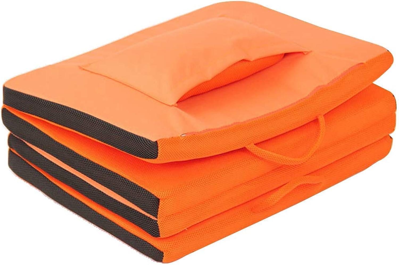 FOTEE Lazy Sofa Bodenstuhl, liegen Bodenkissen Outdoor Tragbares Meditieren oder Spielen,Orange_177x60x4cm