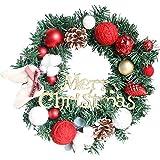 lossomly Corona de Navidad, corona y guirnaldas, guirnalda artificial natural,...