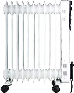 Tipo de aceite Radiador de calefacción de espacio, Radiador lleno de aceite portátil de 2000 vatios con ruedas, Calentador radiante de habitación completa de temperatura de confort Calor seguro Gris c