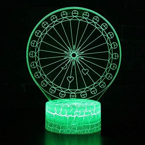 Giant fiets thema 3D LED illusie tafel bureau decoratie lamp 7 kleuren veranderen nachtlampje voor slaapkamer Home Decoration, verjaardag kerstcadeau voor jongens en meisjes