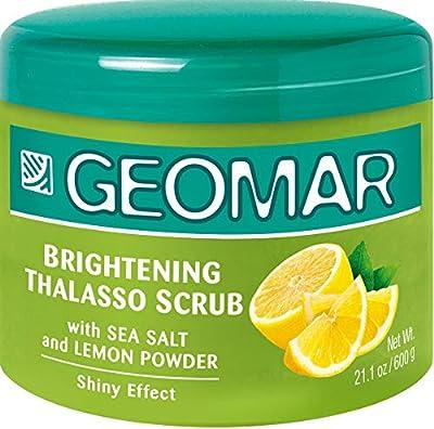 Geomar Lemon Scrub - Large 21 Ounces Exfoliating and Skin Renewing Natural Body Scrub - Lemon, Sea Salt, Volcanic Sand, Moisturizing Oils, Lemon Extract, Oligoelements From the Dead Sea