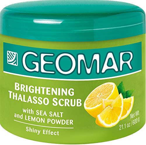 Geomar Thalasso Scrub Illuminant 600g mit Meeresalz und Zitronen-Extrakte - enthält nur natürliche Inhaltsstoffe - Peeling Körperpeeling - natürliche Helligkeit und Ausstrahlung