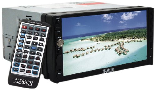 Absolute DD-3000 7-Inch Double Din Multimedia DVD Player Receiver with Touch...