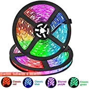Led Strip Lights, 32.8Ft(10m) Waterproof 5050 RGB Light Strip Kits with 44 Keys IR Remote Control 12V Power Supply Color Changing Led Strip for Room, Bedroom, TV, Kitchen, Desk, Party