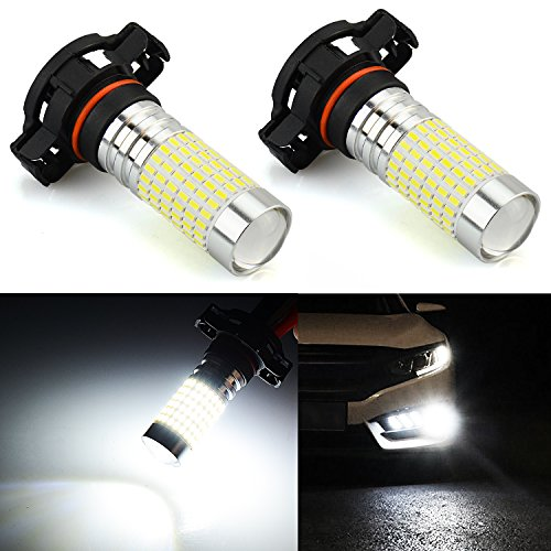 JDM ASTAR Bright White 144-EX Chipsets 5202 5201 LED Fog Light Bulbs with Projector