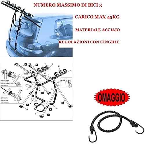 Compatible con Seat Alhambra (Rails) 5p (2010->) Soporte para Coche Trasero para...