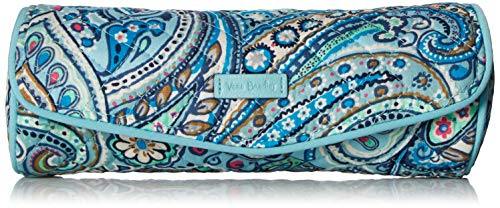 Vera Bradley Women#039s Signature Cotton On a Roll Cosmetic Case Daisy Dot Paisley One Size