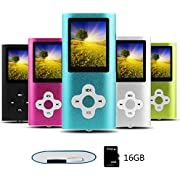Btopllc MP3 Player, MP4 Player, Digital Music Player 16GB Internal Memory Card, Portable and Compact MP3 / MP4 Music Player,Video Player,Ebook,Picture Music Player