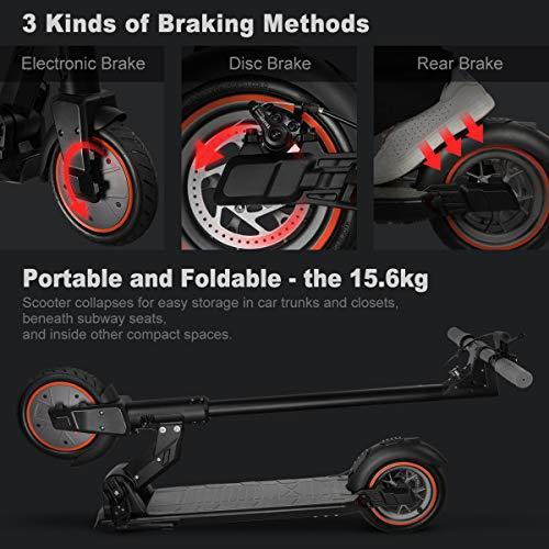 urbetter Kugoo M2 PRO Monopattino Elettrico Pieghevole, e Scooter Elettrico Adulti,velocità Massima 25km/h,30km di Autonomia, Motore 350W, 3 modalità di velocità