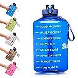 SLUXKE - Borraccia sportiva da 2,2 l/3,78 l, grande bottiglia sportiva, senza BPA, 2,2 litri, a prova di perdite, per fitness, sport, palestra