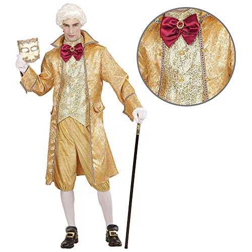 Widmann 06442 - Kostüm Venezianischer Edelmann, Mantel mit Weste, Fliege, Hose, Adeliger, Baron, Barock, Maskenball, Mottoparty, Karneval