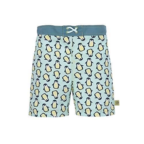 LÄSSIG - UV-Badehose für Jungen mit Windel - Kaktus - Blau