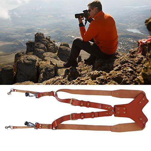 Arnés para el hombro de la cámara, correa de cuero ensanchada y duradera para la cámara, accesorios para cámaras para uso en exteriores