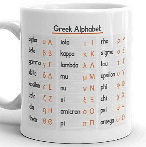Griechisches Alphabet und Alphabet Tasse Tasse Kaffeetasse Tasse Englisch Alphabet Mutter Tasse Kaffeetasse Niedlich Keramik Hitzebeständig Tasse Keramik Teetasse