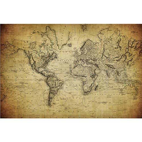 Meishe Art Plakatdruck Poster Weltkarte Karte der Welt Jahrgang Plakate Drucken Globus Globalen Kunstdrucke Antiken Historischen Büro Club Startseite Wand Decor