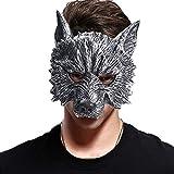 EraSpooky Masque Loup Animal Costume Déguisement Accessoires Fête d'halloween Tenue Drôle pour Adulte Hommes Femmes
