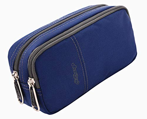 Pencil Case, Large Capacity Pencil Cases Pencil Bag with Two Compartments … (Navy)