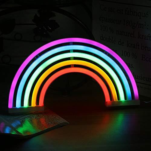 Néon lights sign Colorido Arco Iris Neón Signo Powered Neón Noche Luz Navidad Luz Lámpara De Pared Decoración Led Neón Tubo